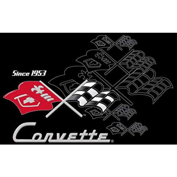JH DESIGN GROUP Graphic Tshirt 3 JH Design Men's Chevy Corvette T-Shirts Collage 3 Colors Short Sleeve Crew Neck Shirt