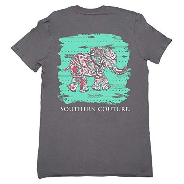 Southern Couture Graphic Tshirt 1 SC Classic Paisley The Elephant Womens Classic Fit T-Shirt - Charcoal
