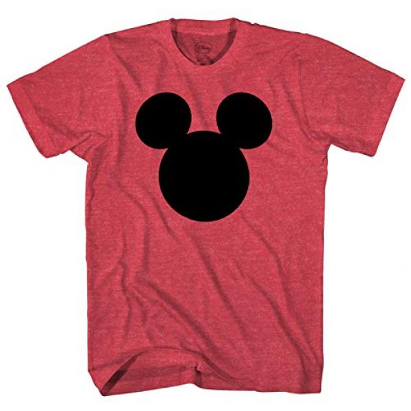 Disney Graphic Tshirt 1 Mickey Mouse Head Silhouette Men's Adult Graphic Tee T-Shirt