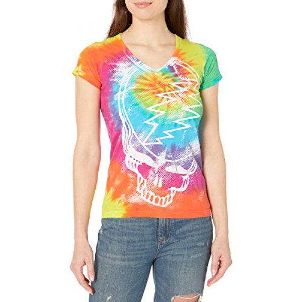 Liquid Blue Graphic Tshirt 1 Women's Juniors Grateful Dead Steal Your Face Rainbow Tie Dye Graphic Tee