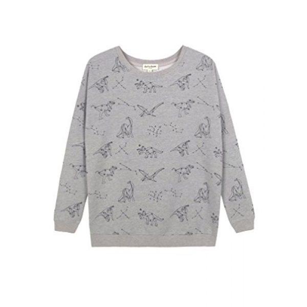 LAVIELENTE FASHION Graphic Tshirt 1 LaVieLente Women's Cotton Long Sleeve Graphic Sweatshirt Crewneck Pullover