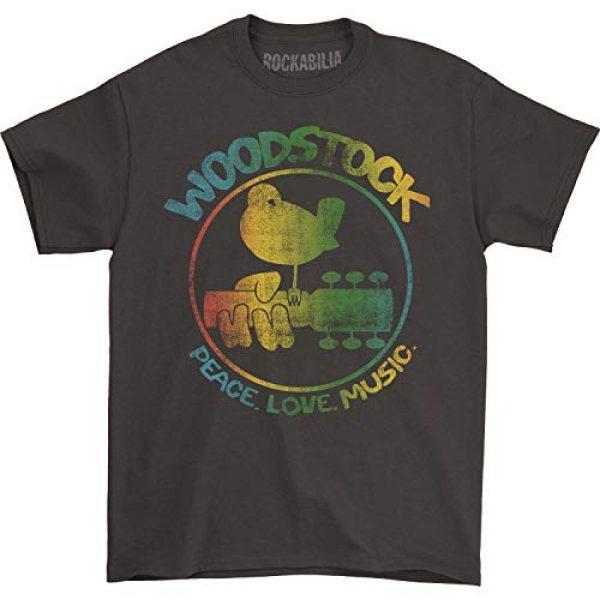 Impact Originals Graphic Tshirt 1 Woodstock Men's Colorful Logo Slim Fit T-Shirt Coal