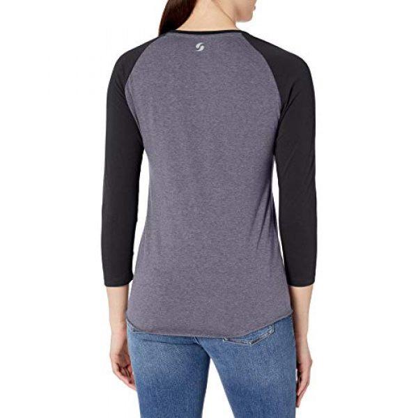 Soffe Graphic Tshirt 2 Women's Heathered Baseball Tee