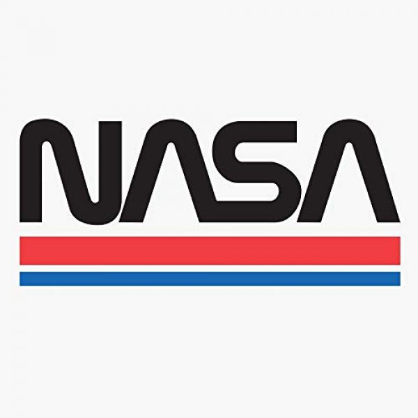 Tee Luv Graphic Tshirt 2 NASA Shirt - Classic NASA Worm Logo Ringer T-Shirt (White/Red)
