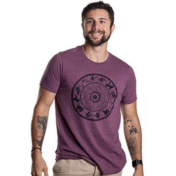 Ann Arbor T-shirt Co. Graphic Tshirt 3 Zodiac Wheel | Stylish Horoscope Art Astrology Spiritual Unisex Triblend T-Shirt