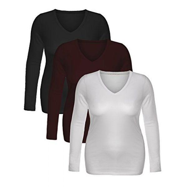 Emmalise Graphic Tshirt 2 Women's Junior and Plus Size Vneck Tshirt Long Sleeves Shirt Tee
