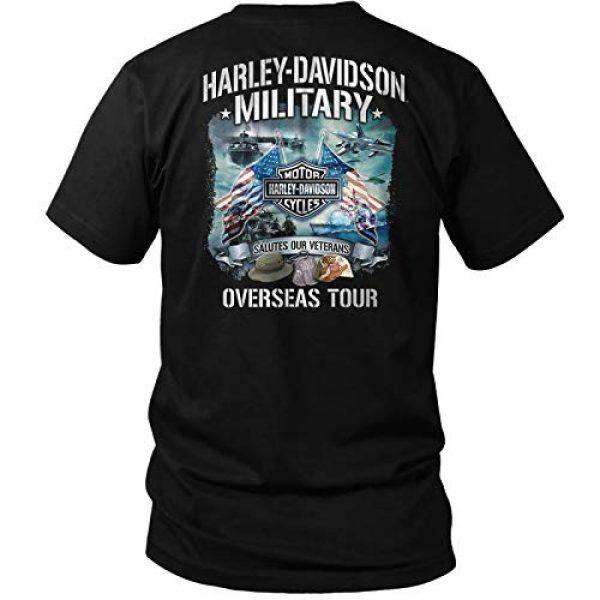 Harley-Davidson Graphic Tshirt 1 Military - Bar & Shield Orange on Black T-Shirt - Overseas Tour | Salutes Our Veterans
