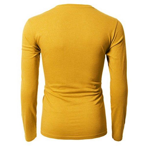 H2H Graphic Tshirt 3 Mens Casual Slim Fit Long Sleeve V-Neck T-Shirts