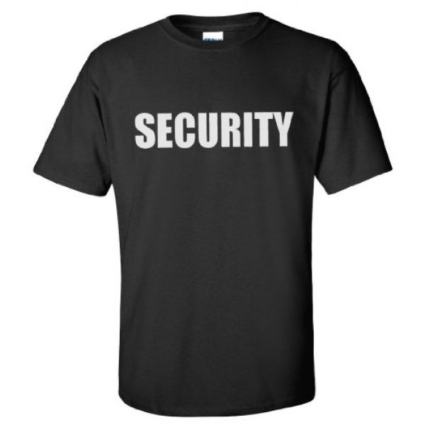 Ann Arbor T-shirt Co. Graphic Tshirt 3 Security | Event Safety Guard Two Side Print Black w/Tall Sizes Unisex T-Shirt