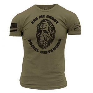 Grunt Style Graphic Tshirt 1 Ask Me About Social Distancing - Men's T-Shirt