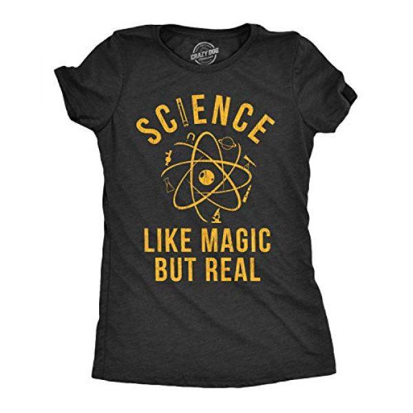 Crazy Dog T-Shirts Graphic Tshirt 1 Womens Science Like Magic But Real Tshirt Funny Nerdy Teacher Tee