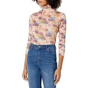 Graphic Tshirt 1 Women's Phoebe Long Sleeve Turtleneck Second Skin T-shirt