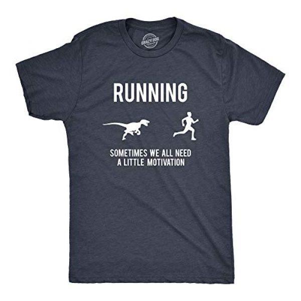 Crazy Dog T-Shirts Graphic Tshirt 1 Mens Running Motivation Raptor Chase T Shirt Funny Dinosaur Tee Nerdy Graphic