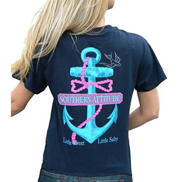 Southern Attitude Graphic Tshirt 1 Salty Anchor Navy Blue Preppy Short Sleeve Shirt