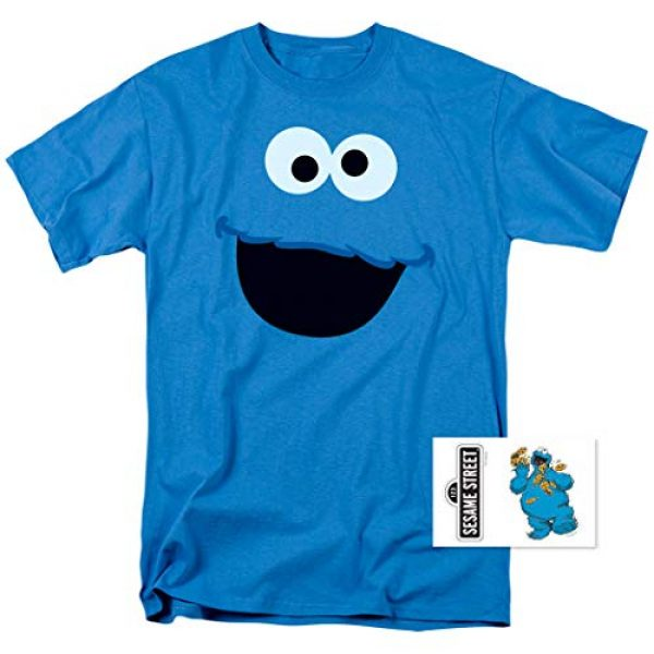 Popfunk Graphic Tshirt 2 Sesame Street Cookie Monster T Shirt & Stickers