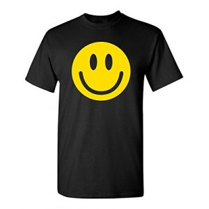 Feelin Good Tees Graphic Tshirt 1 Smile Face Emoticons Novelty Graphic Sarcastic Happy Face Humor Funny T Shirt