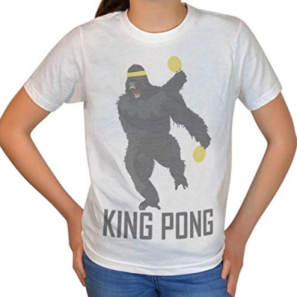 ChalkTalkSPORTS Graphic Tshirt 3 King Pong T-Shirt   Vintage Faded Ping Pong T-Shirt   Adult Sizes
