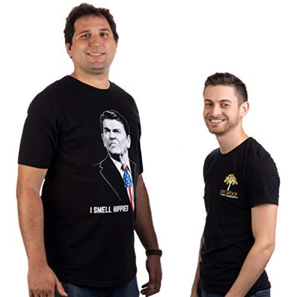 Ann Arbor T-shirt Co. Graphic Tshirt 5 Tall Tee: I Smell Hippies   Funny Ronald Reagan Conservative Merica USA T-Shirt