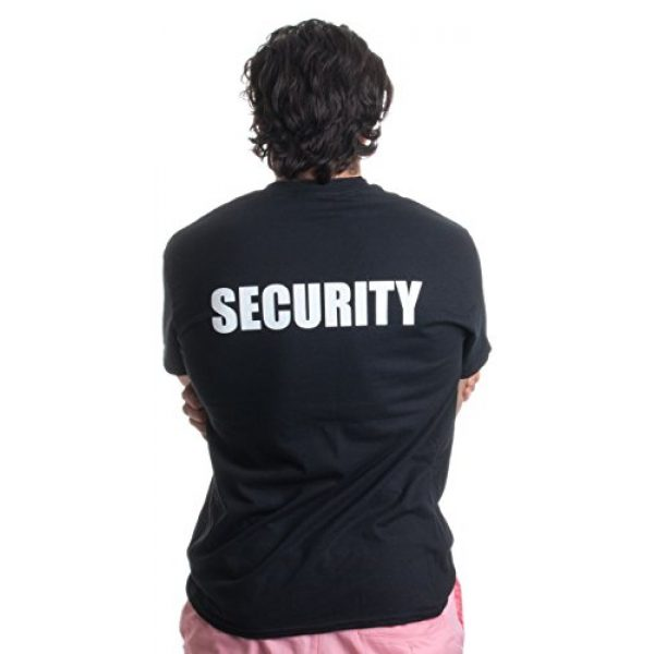 Ann Arbor T-shirt Co. Graphic Tshirt 2 Security | Event Safety Guard Two Side Print Black w/Tall Sizes Unisex T-Shirt