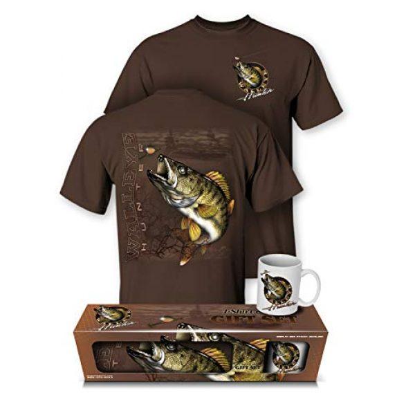 Follow the Action Graphic Tshirt 1 Walleye Hunter Fishing T-Shirt and Mug Premium Gift Set