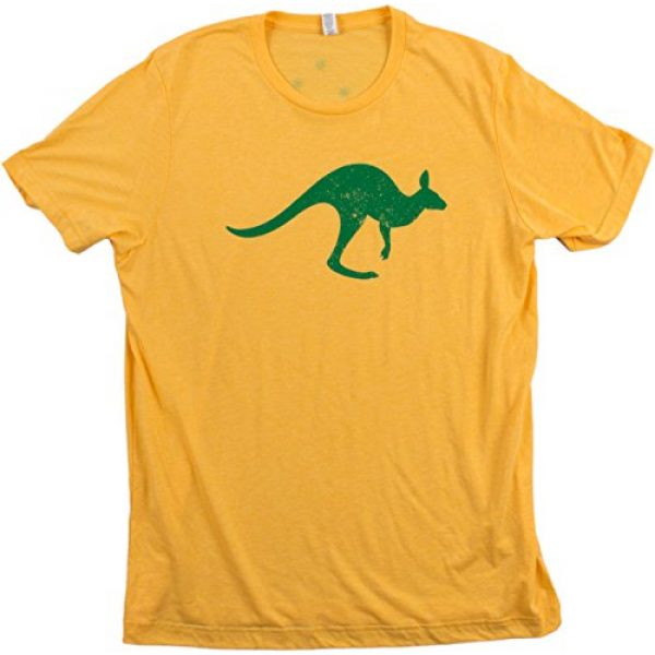 Ann Arbor T-shirt Co. Graphic Tshirt 4 Vintage Style Australia   Aussie Roo + Southern Cross Unisex Triblend T-Shirt