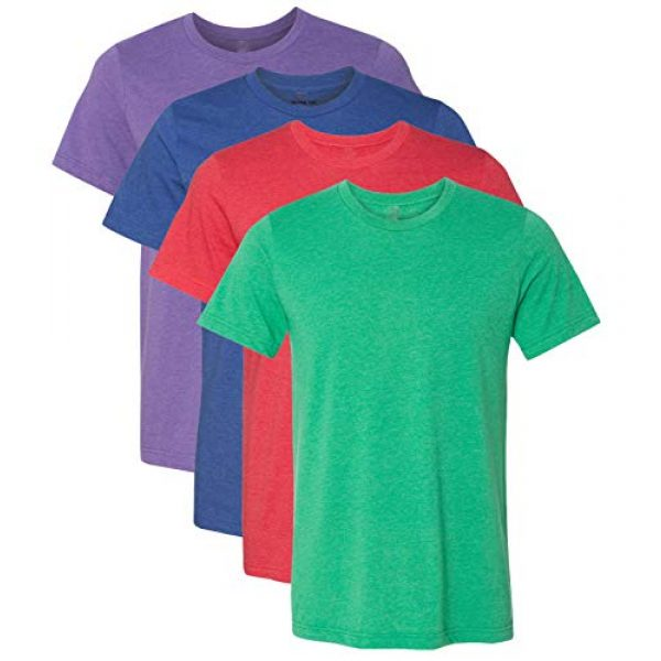 Kennedy Todd Graphic Tshirt 1 4 Pack Men's Heather Cotton Poly T-Shirt