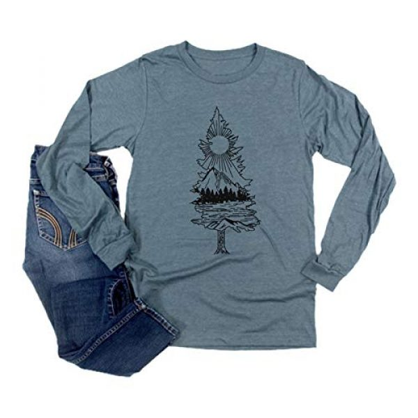 Binshre Graphic Tshirt 1 Women Take A Hike Mountain Tree Graphic Printed Tshirt Novelty Casual Hiking Shirts Funny Long Sleeve Tee Tops