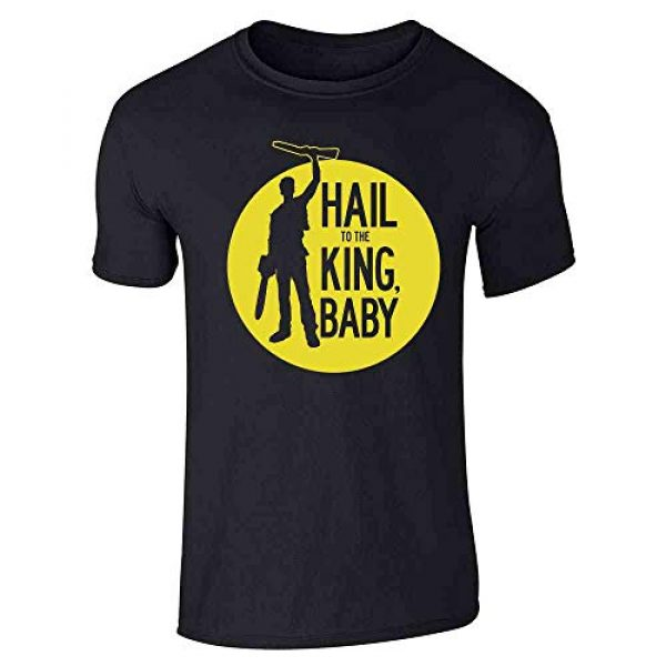 Pop Threads Graphic Tshirt 1 Hail to The King Baby Ash Deadites Funny Horror Graphic Tee T-Shirt for Men