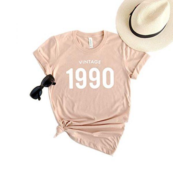 Create5 Clothing Graphic Tshirt 2 30th Birthday 1991 T-Shirt Short Sleeve Casual Vintage 90s Womens Tee Shirt