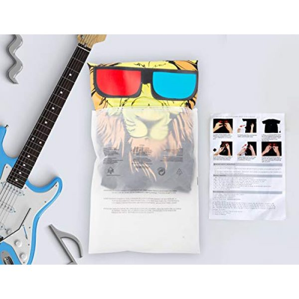 SOOOEC Graphic Tshirt 7 LED T Shirt Sound Activated Glow Shirts Light up Equalizer Clothes for Party