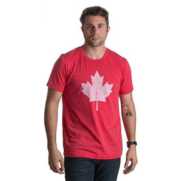 Ann Arbor T-shirt Co. Graphic Tshirt 2 Canada Pride   Vintage Style, Retro-Feel Canadian Maple Leaf Unisex T-Shirt