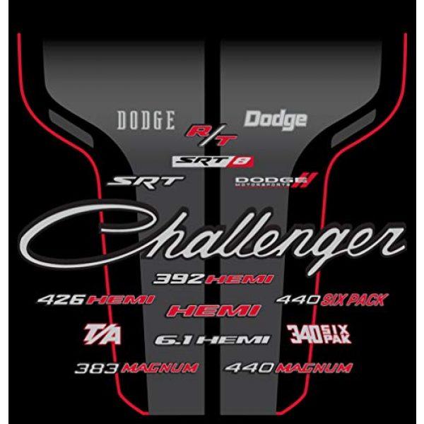 JH DESIGN GROUP Graphic Tshirt 4 JH Design Men's Dodge Challenger T-Shirt Short Sleeve Black Crew Neck Shirt
