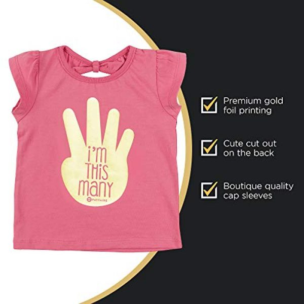 Fayfaire Graphic Tshirt 4 4th Birthday Shirt Outfit: Boutique Quality Fourth Bday Im This Many 4T