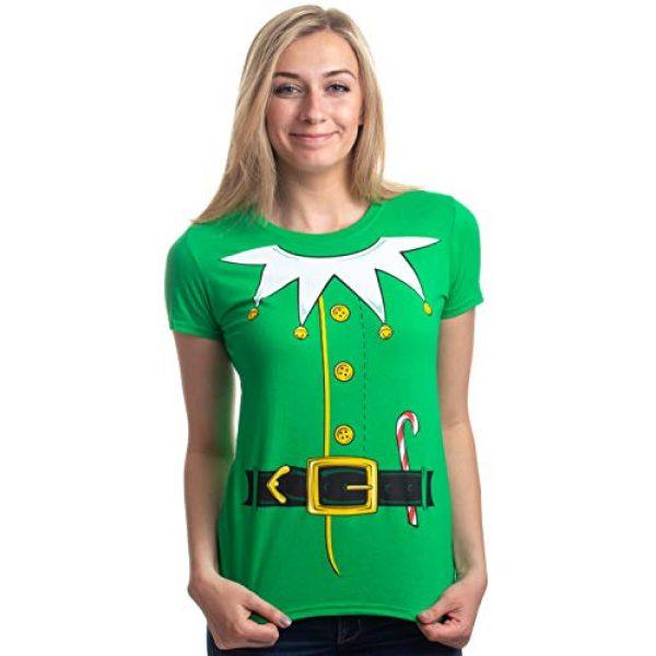 Ann Arbor T-shirt Co. Graphic Tshirt 2 Santa's Elf Costume | Jumbo Print Novelty Christmas Holiday Humor Ladies T-Shirt