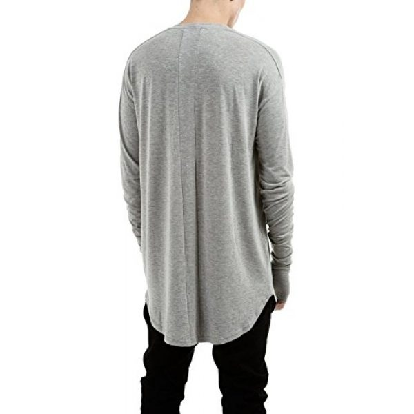 LILBETTER Graphic Tshirt 3 Mens Thumb Hole Cuffs Long Sleeve T-Shirt Basic Tee