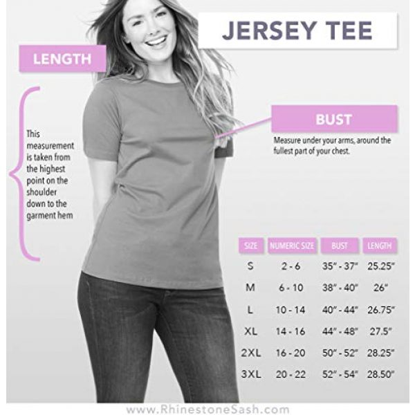 RhinestoneSash Graphic Tshirt 3 50th Birthday Shirts for Women - Rhinestone Fierce Fabulous & 50 T-Shirt - 50th Birthday Tshirts for Women