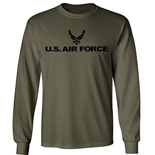 ZeroGravitee Graphic Tshirt 1 Air Force Long Sleeve T-Shirt in Military Green