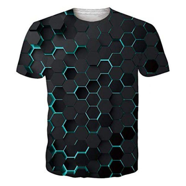 Idgreatim Graphic Tshirt 2 Unisex Casual 3D Print Animal Short Sleeve T-Shirt Graphic Tees