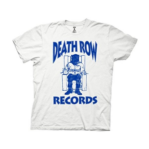 Ripple Junction Graphic Tshirt 1 Death Row Records Adult Unisex Blue Logo Light Weight 100% Cotton Crew T-Shirt