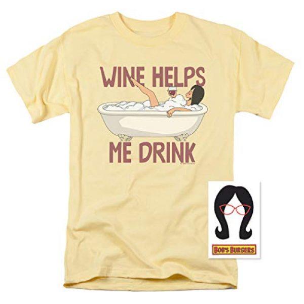 Popfunk Graphic Tshirt 2 Bob's Burgers Wine Helps Me Drink T Shirt & Stickers
