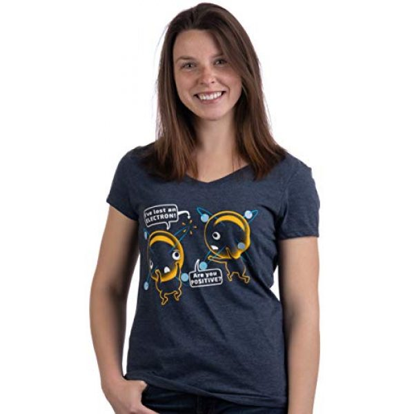 Ann Arbor T-shirt Co. Graphic Tshirt 2 I'm Positive I've Lost an Electron   Funny Chemistry Science Pun Women T-Shirt