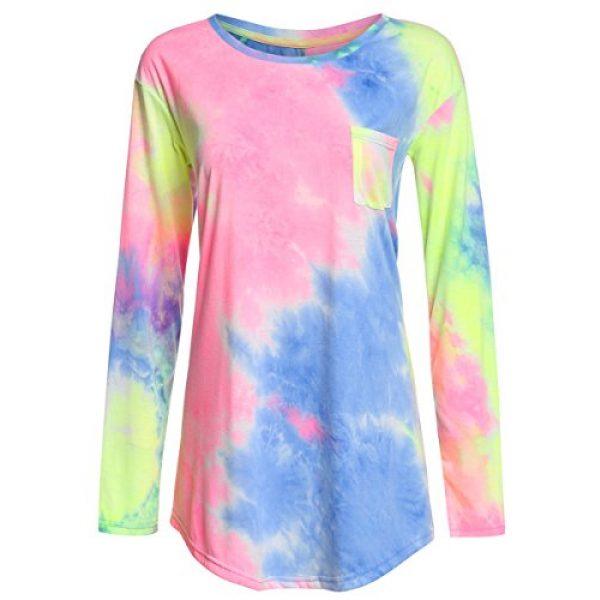 ROMWE Graphic Tshirt 1 Women's Loose Long Sleeve Comfy Swing Tunic Top Blouse T-Shirt Tee Tshirt