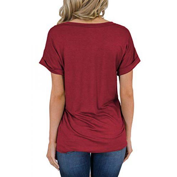 MIHOLL Graphic Tshirt 2 Women's Short Sleeve V-Neck Shirts Loose Casual Tee T-Shirt