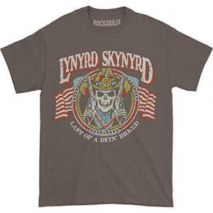 Lynyrd Skynyrd Graphic Tshirt 1 Men's Gun Skull T-Shirt Charcoal