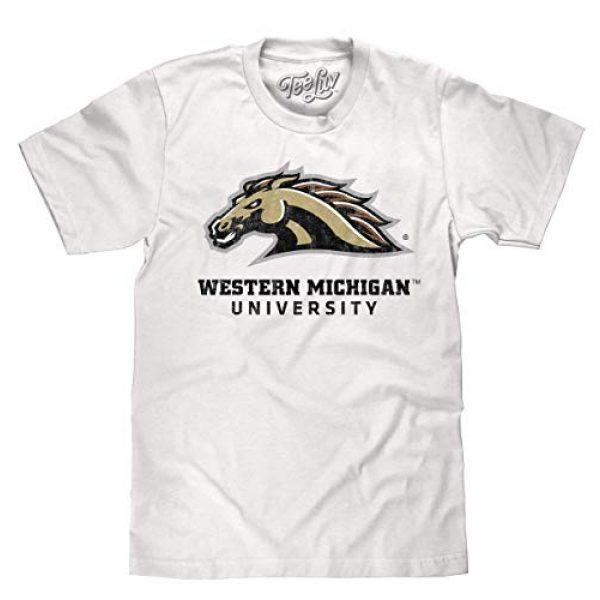 Tee Luv Graphic Tshirt 1 Western Michigan University Broncos T-Shirt - WMU College Shirt