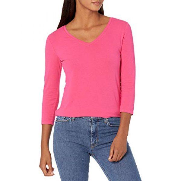 Amazon Essentials Graphic Tshirt 1 Women's Classic-Fit 3/4 Sleeve V-Neck T-Shirt