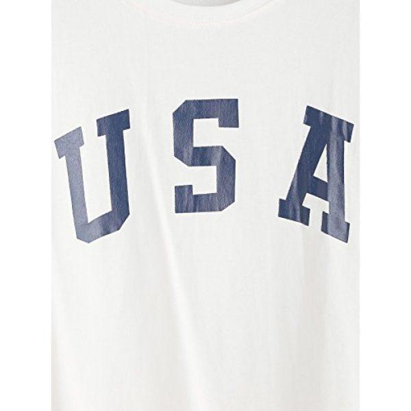 HUILAN Graphic Tshirt 3 Women's USA Letter Print Crop Tops Summer Short Sleeve T-Shirt