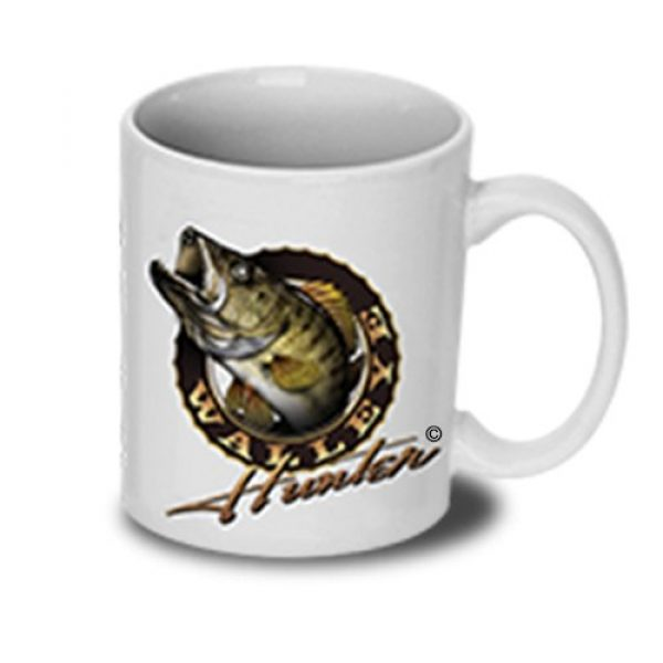 Follow the Action Graphic Tshirt 4 Walleye Hunter Fishing T-Shirt and Mug Premium Gift Set