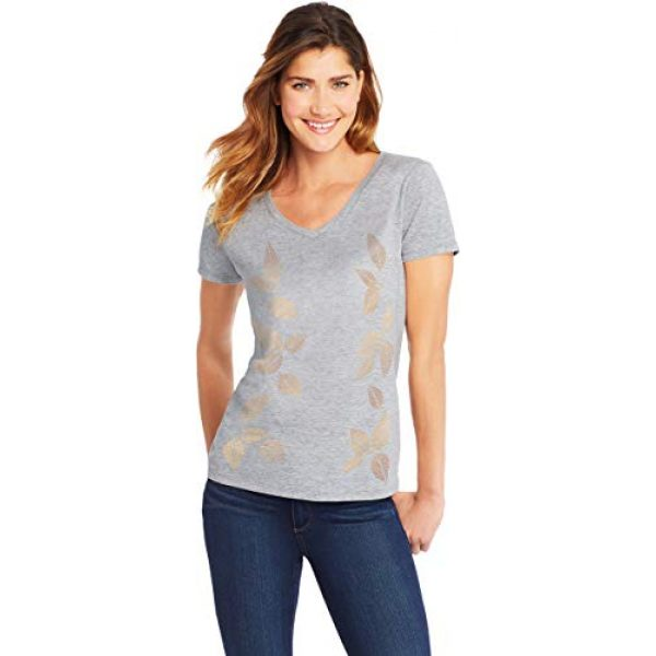 Hanes Graphic Tshirt 2 Womens Short Sleeve Graphic V-neck Tee (multiple graphics available)