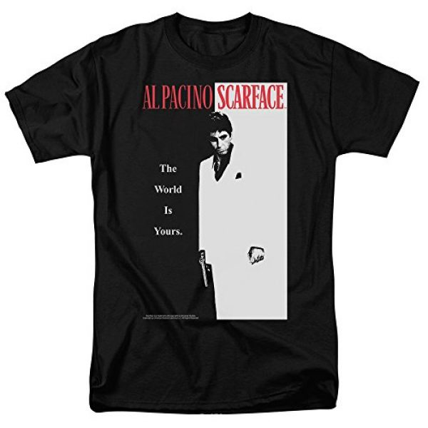 Popfunk Graphic Tshirt 1 Scarface The World is Yours T Shirt & Stickers